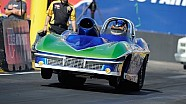Super Gas racer Aaron Kinard takes the wally at the NHRA Arizona Nationals