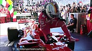 Vettel zafer sonrası sevinci