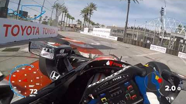 Desde el casco de Graham Rahal en Long Beach
