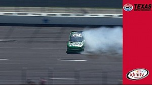 Daniel Hemric takes a hard hit at Texas