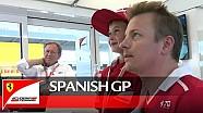 Kimi y el niño fan en el GP Español ;)