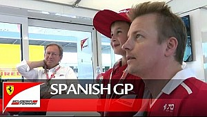 Kimi and the young supporter at the Spanish GP ;)