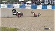 Insiden Cal Crutchlow dan Pol Espargaro di MotoGP Spanyol