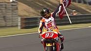 Perayaan kemenangan Marc Marquez di MotoGP Jepang 2016