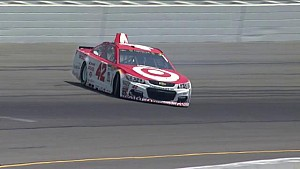 Larson spins in final practice