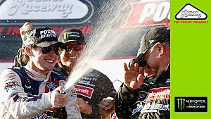 Keselowski gives impromptu interview of Blaney in Victory Lane