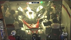 24 Hours of Le Mans 2017 - 22:45 start of fire on the Toyota # 8