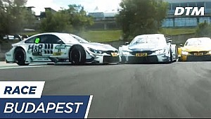 Blomqvist spins off the track in the first round - DTM Budapest 2017