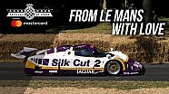 Screaming Le Mans winning Jaguar XJR-9 at FOS