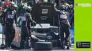 Engine trouble ends Truex's strong Sonoma run