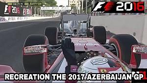 2017 Azerbaycan GP'sinin F1 2016 oyunu ile yeniden canlandırılması