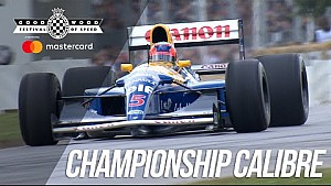 Nigel Mansell's F1 winning Williams FW14B screams up Goodwood hill