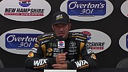 Martin Truex Jr reacts to another second place start