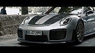 Forza 7 meets its cover star, the new 911 GT2 RS at the Festival of Speed
