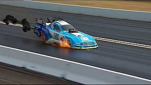 Tim Wilkerson has a hot trip down the track