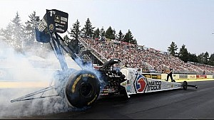 Antron Brown races to the points lead with his win in Seattle