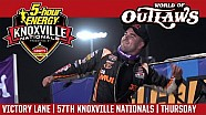 World of Outlaws Craftsman sprint cars Knoxville raceway August 10, 2017 | Victory lane