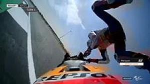 Kecelakaan besar Marquez saat FP2