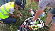 Аварія Володимира Баранова на 4-му етапі UASBK