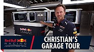 Christian Horner Red Bull Racing Garage Tour