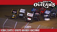World of Outlaws Craftsman sprint cars Grays Harbor raceway September 4, 2017 | Highlights
