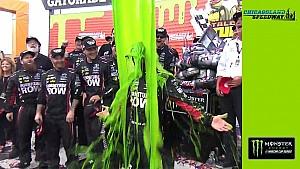 Martin Truex Jr. gets slimed in victory lane