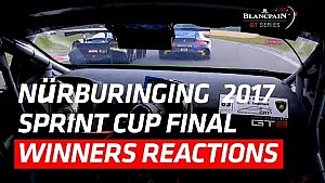Team WRT Audi - Nürburgring winners reactions - Blanpain GT series