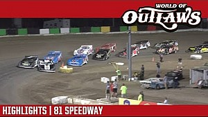 World of Outlaws Craftsman late models 81 speedway September 24, 2017 | Highlights