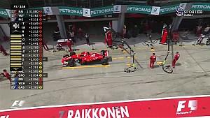 2017 Malezya GP - Vettel'in Yavaşlayarak Antremana Veda Etti