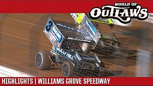 World of Outlaws Craftsman sprint cars Williams Grove speedway September 29, 2017 | Highlights