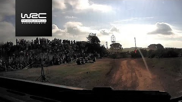 WRC Rally de España: Ogier shakedown on board