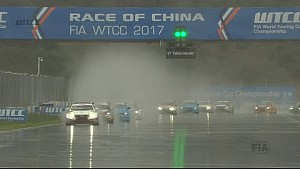 Not much action from the Main race in China - rain ain't fun.