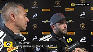 Lamborghini Super Trofeo World Final AM+LC Race 2 - Interview with Wlazik and Scholze