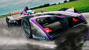 La nouvelle Formule E DS Virgin en test sur piste humide