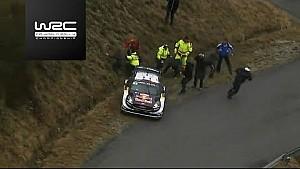 Rallye Monte-Carlo 2018 - Sébastien Ogier dans un fossé