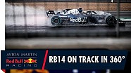 On board in 360° with Daniel Ricciardo for the RB14's first laps