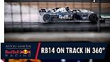 In 360° onboard met Daniel Ricciardo tijdens zijn eerste meters in de RB14