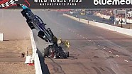 Spectaculaire crash Jonnie Lindberg en John Force in Phoenix