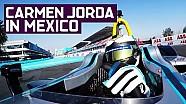 Carmen Jorda Formula E test in Mexico