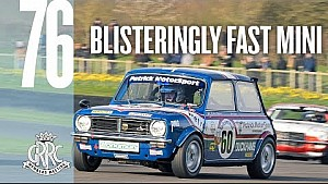 Mini 1275 GT slides round wet Goodwood