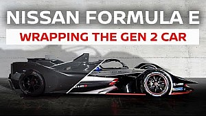 Nissan Formula E car livery wrap: behind the scenes