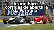 As melhores corridas de abertura da F1