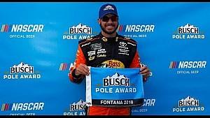 Martin Truex Jr. wins Busch Pole Award at Auto Club Speedway