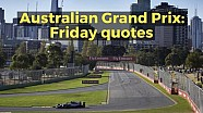 Australian Grand Prix: Friday quotes
