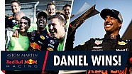 Daniel Ricciardo wins in China! | The team celebrate first F1 win of the season