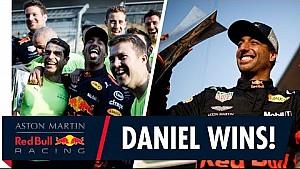 Daniel Ricciardo wins in China! | The team celebrate first F1 win of the season