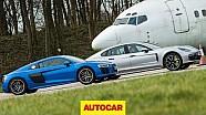 Драг-битва: Audi R8 проти Porsche Panamera Turbo S E-Hybrid