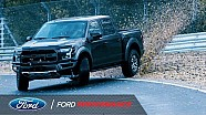 Vaughn Gittin Jr. drifts Nurburgring in Ford Raptor