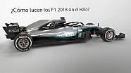 ¿Cómo lucirían los F1 2018 sin Halo?