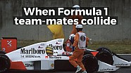 When Formula 1 team-mates collide